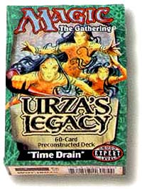 Magic: The Gathering Urza`s Legacy Time Drain Expert Level (preconstructed deck) Серия: Magic: The Gathering® инфо 388h.